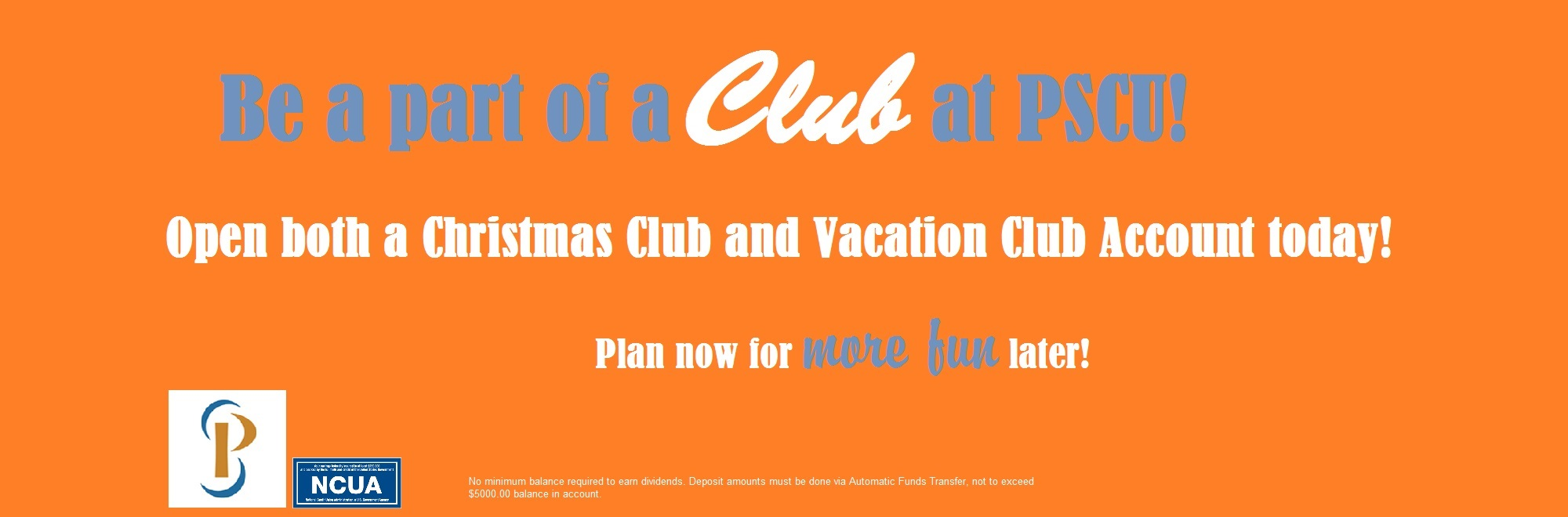 Christmas Club and Vacation Club Accounts